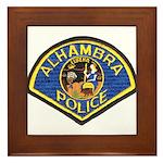 Alhambra Police Framed Tile