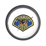 Alhambra Police Wall Clock
