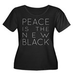 Peace is the new black Plus Size T-Shirt