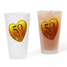 50th Golden Anniversary Drinking Glass