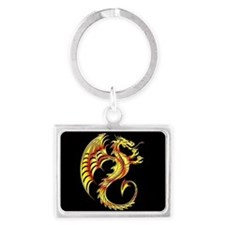 Golden Dragon Symbol Keychains