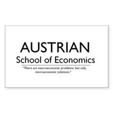 Austrian School of Economics Oval Decal