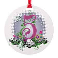 5th Wedding Anniversary Ornament