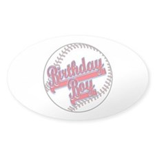 Baseball Birthday Boy Decal