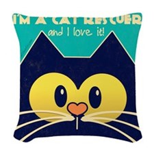 Vintage Style Cat Rescuer Collection Woven Throw P
