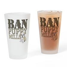 Ban Puppy Mills Drinking Glass