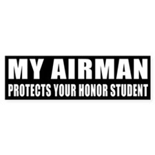 USAF Honor Student Bumper Sticker