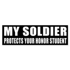 USA Honor Student Bumper Sticker