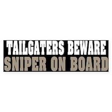 Sniper on Board Bumper Sticker (10 pk)