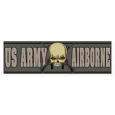 Airborne Skull Bumper Sticker (50 pk)