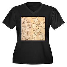 Hokusai Cranes Plus Size T-Shirt