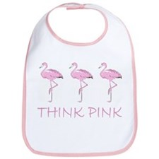 Breast cancer flamingo Bib