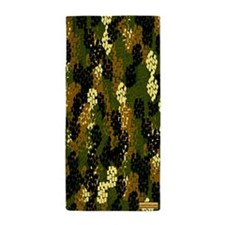 Camoflage Green and Black Beach Towel