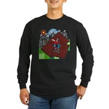 blockcraft city skater Long Sleeve T-Shirt