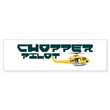 Chopper Pilot Bumper Bumper Sticker