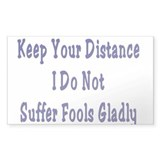Keep Your Distance Rectangle Decal