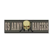 Rangers Skull Car Magnet 10 x 3