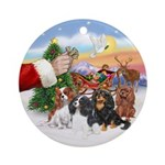 Treat For Four Cavaliers Ornament (Round)