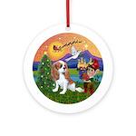 XFantasy-Blenheim Cavalier Puppy Ornament (Round)
