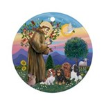 StFrancis-Four Cavaliers Ornament (Round)
