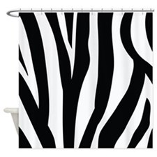 Fun Zebra Stripe Animal Print Shower Curtain