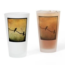 Two Crows On A Branch Drinking Glass