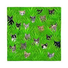 Cats in Grass Queen Duvet