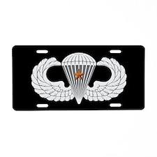 Airborne Combat Jump Aluminum License Plate