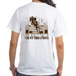 Hunter, Jumper Horse Stunts White T-Shirt