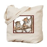 Pair of Baby Squirrels Tote Bag