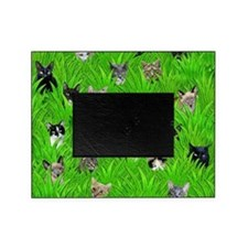Cats in Grass Picture Frame