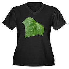 Ivy Leaf Women's Plus Size Dark V-Neck T-Shirt