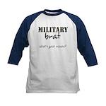 Military Brat Kids Baseball Jersey