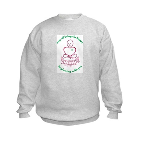 May All Beings Be Happy Kids Sweatshirt