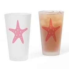 Pink Starfish Drinking Glass