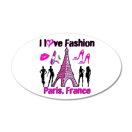 FRENCH FASHION 35x21 Oval Wall Decal