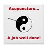 """Acupuncture"" Tile Coaster"