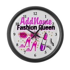 FASHION QUEEN Large Wall Clock