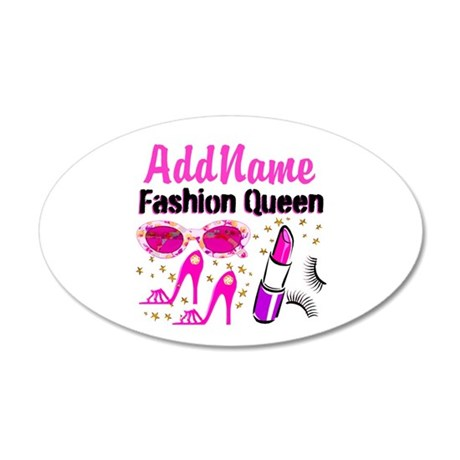 FASHION QUEEN 20x12 Oval Wall Decal