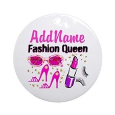 FASHION QUEEN Ornament (Round)