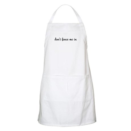 Don't Fence Me In BBQ Apron
