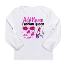FASHION QUEEN Long Sleeve Infant T-Shirt