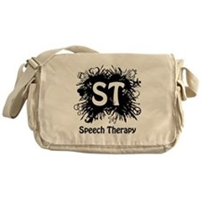Speech Splash - black Messenger Bag