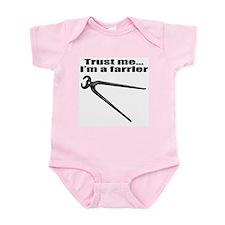 Trust me I'm a farrier Infant Bodysuit