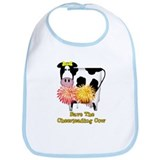 Cheerleading Cow Bib