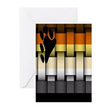 BEAR PRIDE FLAG WOVEN LOOK2 Greeting Cards (10PK
