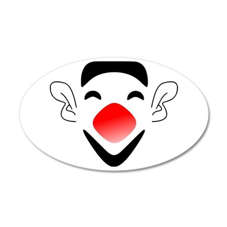 Big Red Nose Clown Face Wall Decal