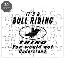 Bull Riding Thing Designs Puzzle