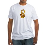 Blown Gold 8 Fitted T-Shirt