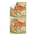 Art Nouveau Flowers Beach Towel